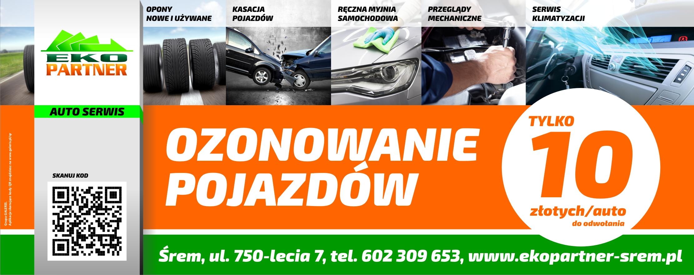 Ozonowanie samochodów aut i pojazdów Śrem